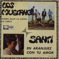Discos de vinilo: LOS MUSTANG - SANTI. Lote 102950910