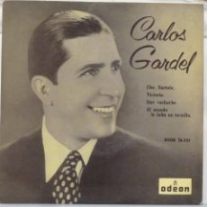 Discos de vinilo: CARLOS GARDEL - CHE BARTOLO. Lote 102950946