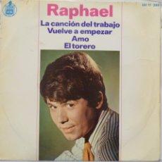 Discos de vinilo: RAPHAEL - LA CANCION DEL TRABAJO. Lote 102950962