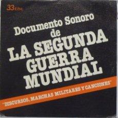 Discos de vinilo: DOCUMENTO SONORO DE LA 2ª GUERRA MUNDIAL. Lote 102951059