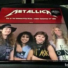 Discos de vinilo: MUSICA LP HEAVY: METALLICA LIVE AT THE HAMMERSMITH ODEON LONDON 1986 VINIYL PRECINTADO JOYA DIFICIL. Lote 102977015