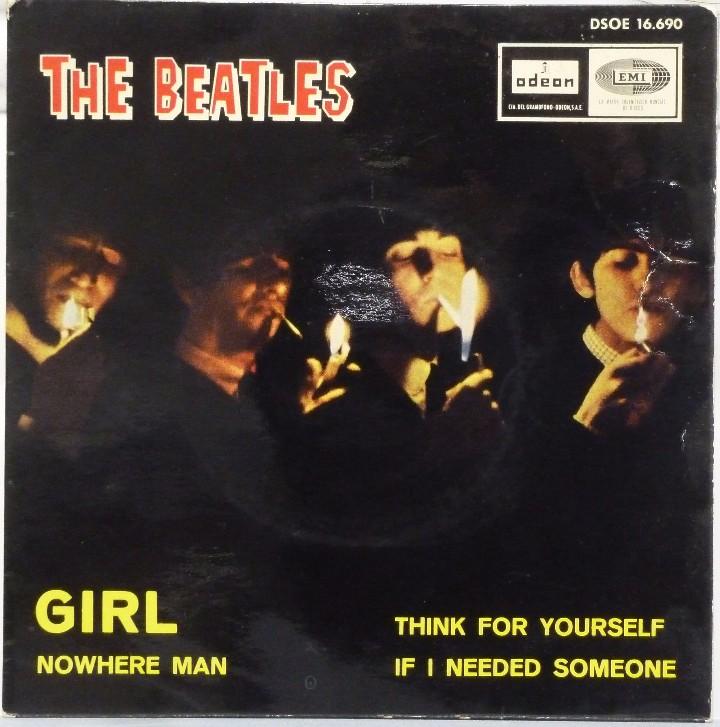 THE BEATLES - GIRL (Música - Discos de Vinilo - EPs - Pop - Rock Internacional de los 50 y 60)