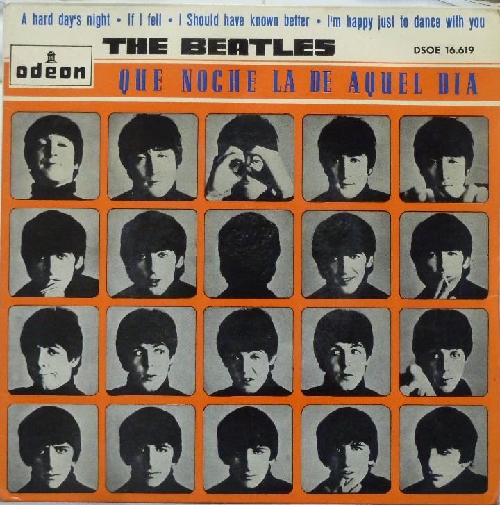 THE BEATLES - QUE NOCHE LA DE AQUEL DIA (Música - Discos de Vinilo - EPs - Pop - Rock Internacional de los 50 y 60)