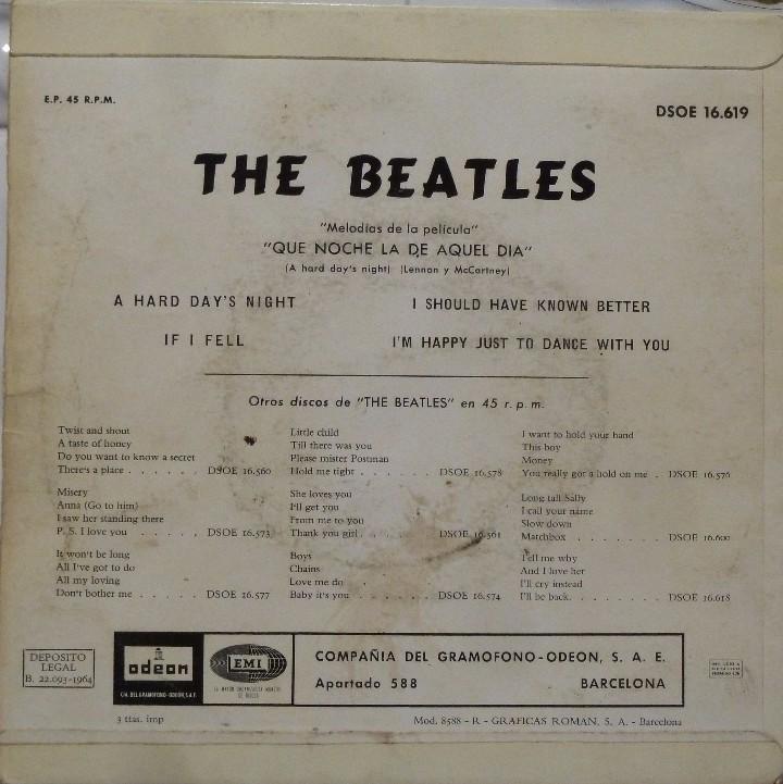 Discos de vinilo: THE BEATLES - QUE NOCHE LA DE AQUEL DIA - Foto 2 - 102950187
