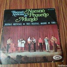 Discos de vinilo: EP BUENAS NOTICIAS DE NUESTRO PEQUEÑO MUNDO.. Lote 102993119