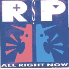 Disques de vinyle: LOS REBELDES SIN PAUSA / ALL RIGHT NOW (SINGLE PROMO 1990) SOLO CARA A. Lote 102999363