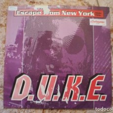 Discos de vinilo: D.U.K.E. ESCAPE FROM NEW YORK. JOHN CARPENTER.. Lote 103010099