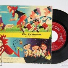 Discos de vinilo: DISCO EP DE VINILO - ELS PASTORETS, CUENTO INFANTIL / V.PORTA ROSÉS Y J. CASAS AUGÉ - ODEON. Lote 103019491