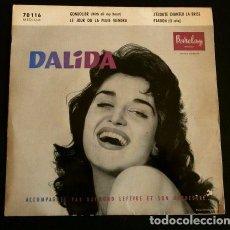 Discos de vinilo: DALIDA (EP. 1961) AND RAYMOND LEFEVRE ET SON ORCHESTRE - GONDOLIER. Lote 103032099