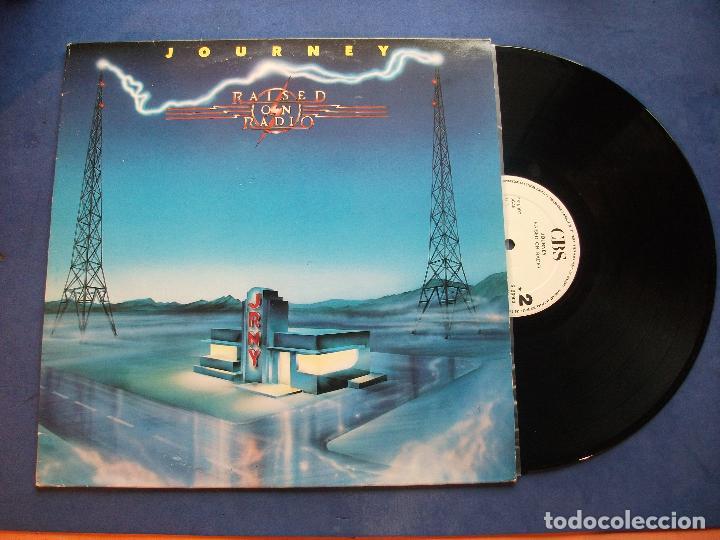 JOURNEY RAISED ON RADIO LP SPAIN 1986 PEPETO TOP (Música - Discos - LP Vinilo - Pop - Rock - New Wave Extranjero de los 80)
