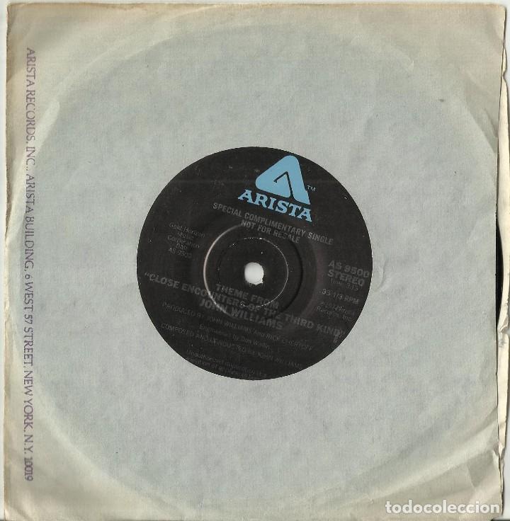 CLOSE ENCOUNTERS OF THE THIRD KIND (ENCUENTROS EN LA TERCERA FASE) - B.S.O - SINGLE PROMO 1977 U.S.A (Música - Discos - Singles Vinilo - Bandas Sonoras y Actores)