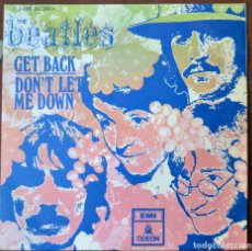 Vinyl-Schallplatten - Beatles. Get back; Don't let me down.EMI Odeon J-006-04.084. España 1969. Funda EX. Disco EX - 103048859