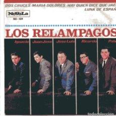 Discos de vinilo: LOS RELAMPAGOS / DOS CRUCES + 3 (EP 1966). Lote 103056891