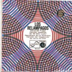 Discos de vinilo: LOS RELAMPAGOS / DANZA DEL FUEGO + 3 (EP 1966). Lote 103056947