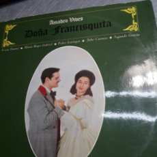 Discos de vinilo: LP DOBLE DOÑA FRANCISQUITA DE AMADEO VIVES 1963. Lote 103065587