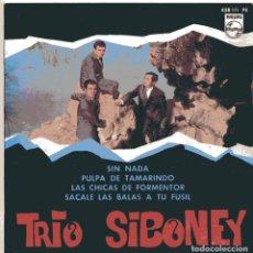 Discos de vinilo: TRIO SIBONEY / SIN NADA + 3 (EP 1961). Lote 103066607