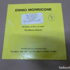 Discos de vinilo: EL BUENO, EL FEO Y EL MALO – THE MISSION (SN) ENNIO MORRICONE AÑO 1987 - PROMOCIONAL. Lote 103072955