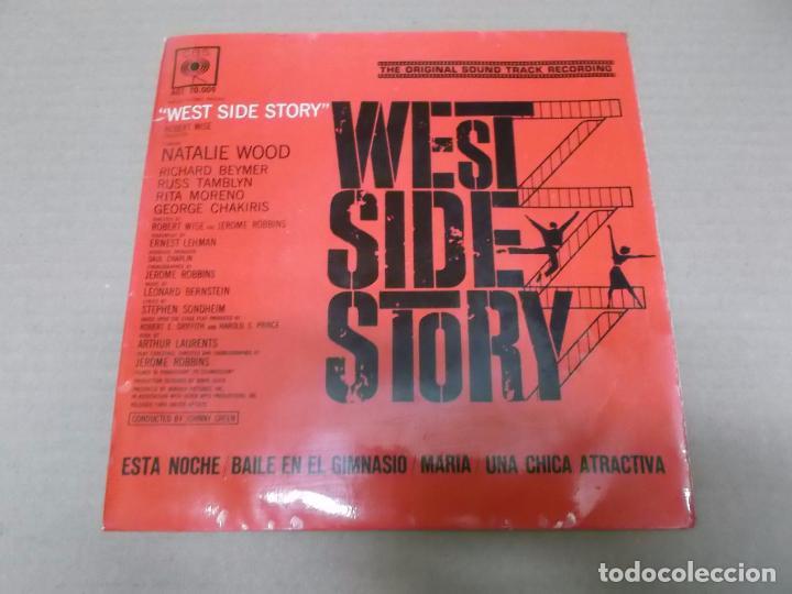 WEST SIDE STORY (EP) JOHNNY GREEN Y SU ORQUESTA AÑO 1962 (Música - Discos de Vinilo - EPs - Bandas Sonoras y Actores)
