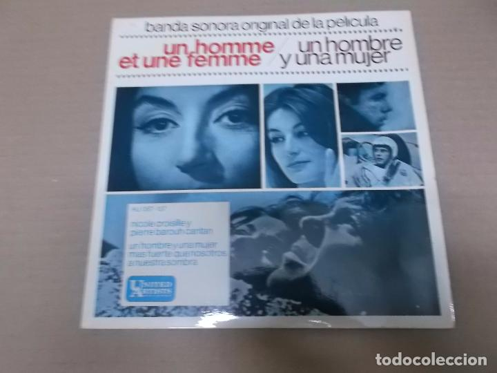 UN HOMBRE Y UNA MUJER (EP) NICOLE CROISILLE Y PIERRE BAROUTH AÑO 1966 (Música - Discos de Vinilo - EPs - Bandas Sonoras y Actores)