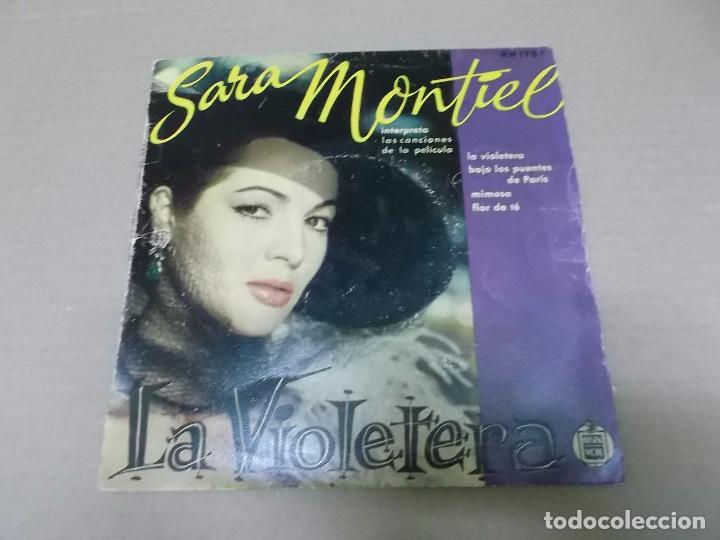 LA VIOLETERA (EP) SARA MONTIEL HH 1751 AÑO 1956 (Música - Discos de Vinilo - EPs - Bandas Sonoras y Actores)
