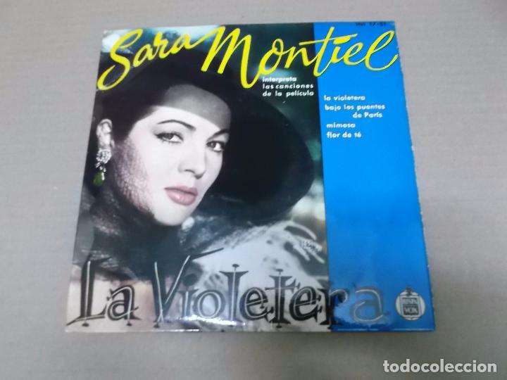 LA VIOLETERA (EP) SARA MONTIEL 17-51 AÑO 1958 (Música - Discos de Vinilo - EPs - Bandas Sonoras y Actores)