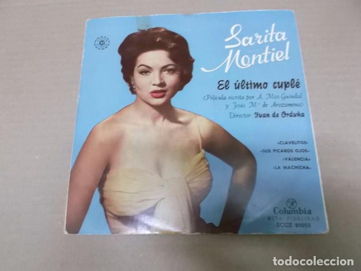 EL ULTIMO CUPLE (EP) SARITA MONTIEL (CLAVELITOS) AÑO 1956 (Música - Discos de Vinilo - EPs - Bandas Sonoras y Actores)