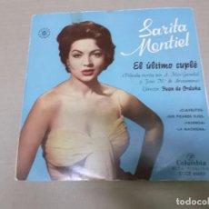 Discos de vinilo: EL ULTIMO CUPLE (EP) SARITA MONTIEL (CLAVELITOS) AÑO 1956. Lote 103076871