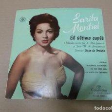Discos de vinilo: EL ULTIMO CUPLE (EP) SARITA MONTIEL (NENA) AÑO 1957. Lote 103076943
