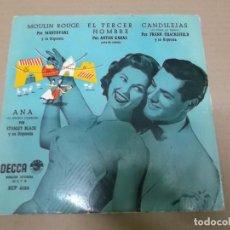 Discos de vinilo: MOULIN ROUGE, EL TERCER HOMBRE, CANDILEJAS, ANA (EP) MANTOVANI, ANTON KARAS, FRANK CHACKSFIELD, STAN. Lote 103077463