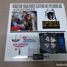 Discos de vinilo: GRANDES EXITOS DE PELICULAS VOL. 3 (EP) FERRANTE & TEICHER, JOHN BARRY, DON COSTA, AL CAIOLA AÑO 196. Lote 103078383
