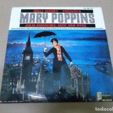 Discos de vinil: MARY POPPINS (EP) JULIE ANDREWS Y DICK VAN DIKE AÑO 1965. Lote 103079507