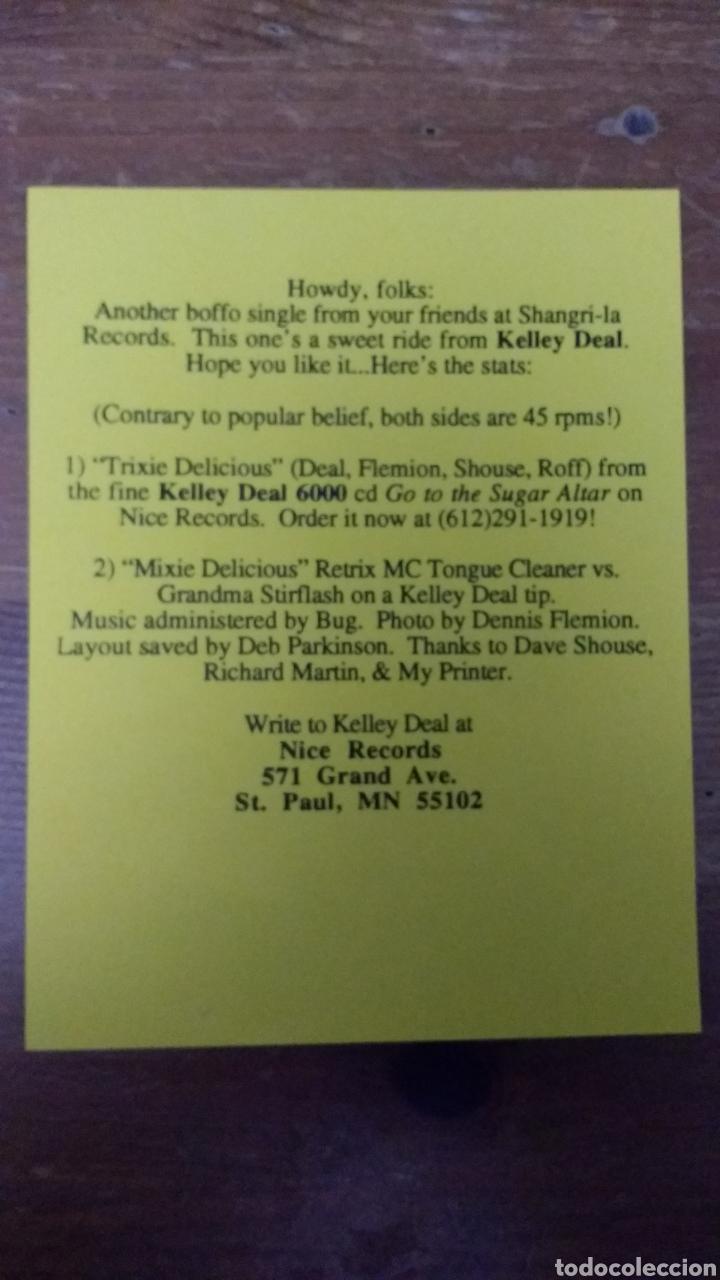 Discos de vinilo: Kelley Deal (The Breeders) 6000 -Trixie Delicius- - Foto 4 - 103085354