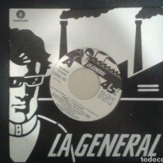 Discos de vinilo: ÁNGEL Y LAS GUAIS. LOS PIES SOBRE LA TIERRA/EL HÁBITO. SINGLE PROMOCIONAL LA GENERAL 1985.. Lote 103095234