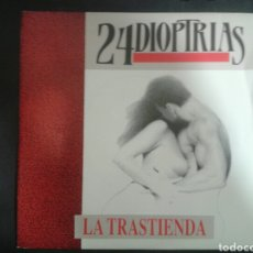 Discos de vinilo: 24 DIOPTRÍAS. LA TRASTIENDA/CUERO VIEJO. SINGLE. DAME RECORDS. 1989. Lote 103095242