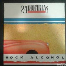 Discos de vinilo: 24 DIOPTRÍAS. ROCK ALCOHOL/YA NO SÉ LLORAR. SINGLE. DAME RECORDS. 1989. Lote 103095254