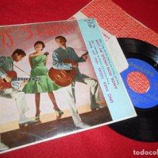 Discos de vinilo: LOS 3 TRES CARINO UNO PARA TODAS/BESAME ESTA NOCHE/VENDRAS/AMOR MON AMOUR..EP 1963 PHILIPS ESPAÑA . Lote 103104279