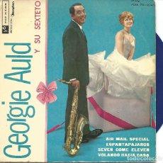 Discos de vinilo: GEORGIE AULD - AIR MAIL SPECIAL + 3 (EP DE 4 CANCIONES) VINILO AZUL - VG+/EX. Lote 103114015