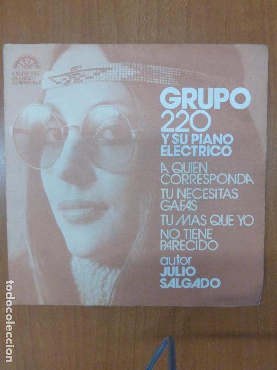 GRUPO 220 Y SU PIANO ELÉCTRICO-A QUIEN CORRESPONDA-BERTA 1974-RARE SPANISH GROOVIE (Música - Discos de Vinilo - EPs - Grupos Españoles de los 70 y 80)