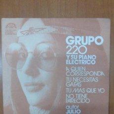 Discos de vinilo: GRUPO 220 Y SU PIANO ELÉCTRICO-A QUIEN CORRESPONDA-BERTA 1974-RARE SPANISH GROOVIE. Lote 103169203