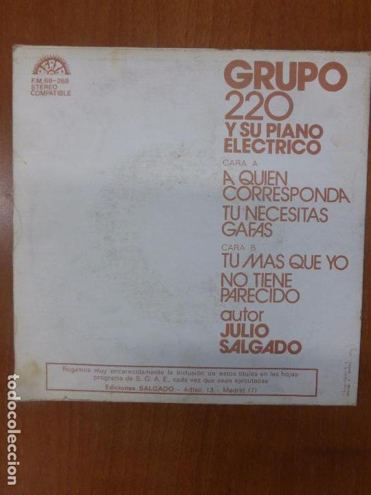 Discos de vinilo: GRUPO 220 Y SU PIANO ELÉCTRICO-A QUIEN CORRESPONDA-BERTA 1974-RARE SPANISH GROOVIE - Foto 2 - 103169203