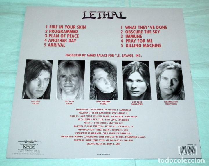 Discos de vinilo: LP LETHAL - PROGRAMMED - Foto 2 - 103179167