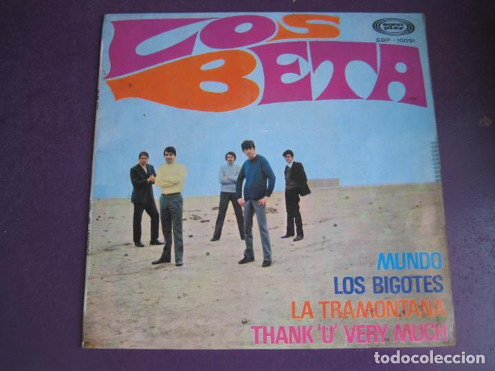 LOS BETA EP SONOPLAY 1968 MUNDO/ LOS BIGOTES/ LA TRAMONTANA/ THANK U VERY MUCH POP BEAT (Música - Discos de Vinilo - EPs - Grupos Españoles 50 y 60)