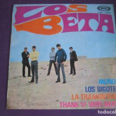 Discos de vinilo: LOS BETA EP SONOPLAY 1968 MUNDO/ LOS BIGOTES/ LA TRAMONTANA/ THANK U VERY MUCH POP BEAT . Lote 103182275