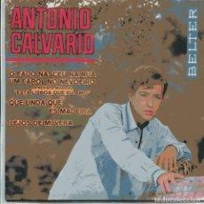 Discos de vinilo: ANTONIO CALVARIO / O FADO NASCEU NA RUA + 3 (EP 1966) NUEVO SIN PONER. Lote 103191143