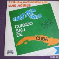 Discos de vinilo: LUIS AGUILE SG MOVIEPLAY 1967 CUANDO SALI DE CUBA / MIGUEL E ISABEL . Lote 103204175