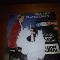 Discos de vinilo: RICHARD CLAYDERMAN. BALLADE POUR ADELINE. MB1. Lote 103208143