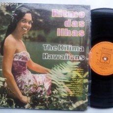 Discos de vinilo: THE KILIMA HAWAIIANS. RITMO DAS ILHAS. LP CBS 37577. BRASIL 1968. MONO.. Lote 103214287
