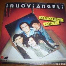 Discos de vinilo: I NUOVI ANGELI. IO STO BENE CON TE. EDICION FIVE DE 1983 (ITALIA). RARO Y COTIZADO. ITALO-DISCO.. Lote 103221239