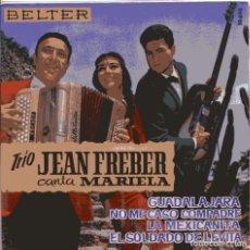 Discos de vinilo: TRIO JEAN FEBRER (MARIELA) NO MECASOCOMPADRE + 3 (EP 1963) NUEVO SIN PONER. Lote 103222687