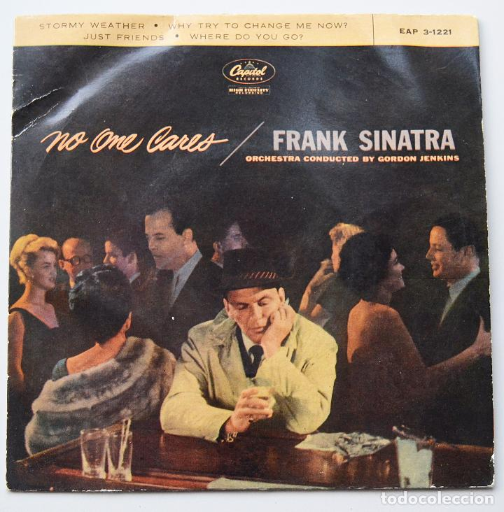 FRANK SINATRA - NO ONE CARES - STORMY WEATHER - ORQUESTA GORDON JENKINS - CAPITOL RECORDS (Música - Discos de Vinilo - EPs - Jazz, Jazz-Rock, Blues y R&B)